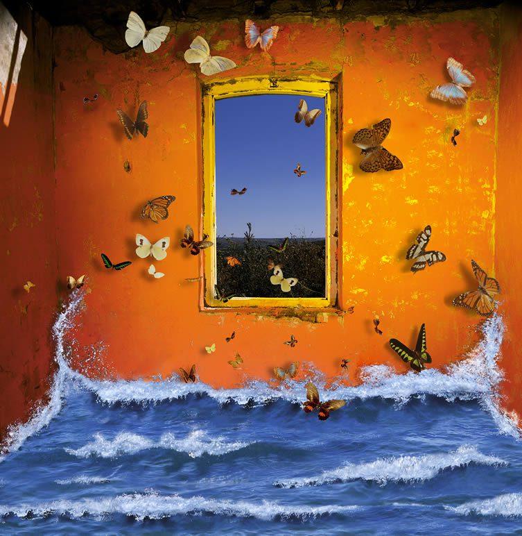 Oleaje y mariposas © Rosa Munoz
