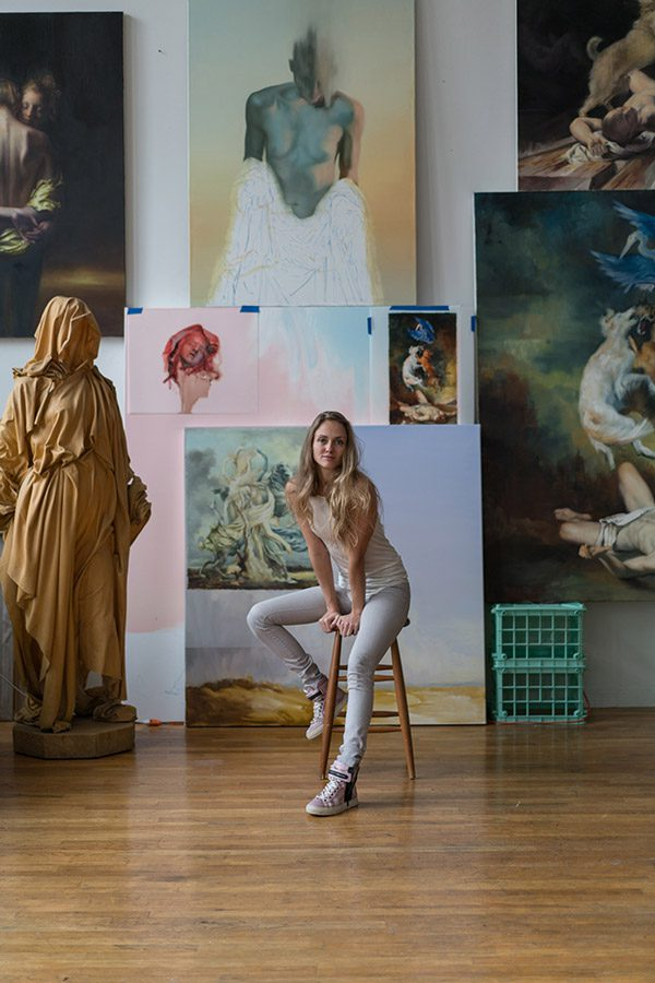 Maria Kreyn in her studio