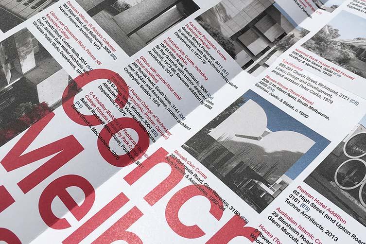 Concrete Melbourne Map Documents Melbourne's Concrete Architecture