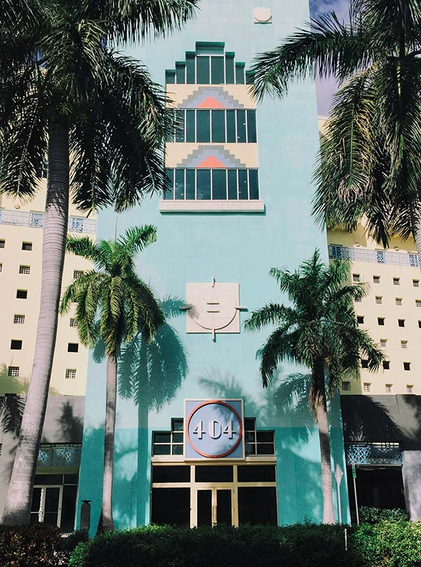 One of Ocean Drive's pastel-hued Art Deco icons, part of the Miami Beach Architectural District