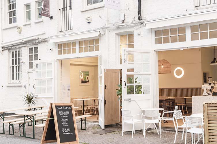 Milk Beach Queens Park, Lonsdale Road London Café and Bar