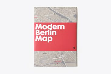 Modern Berlin Map, Blue Crow Media