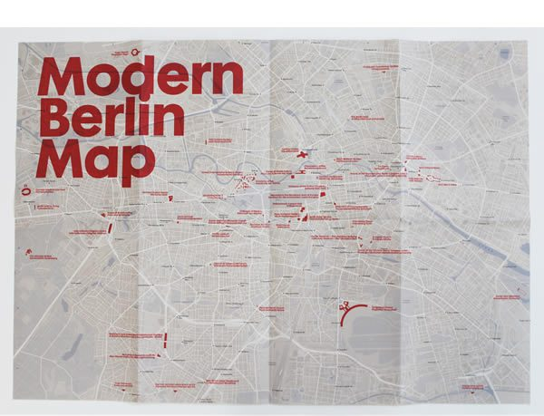 Modern Berlin Map, Blue Crow Media in collaboration with Matthew Tempest
