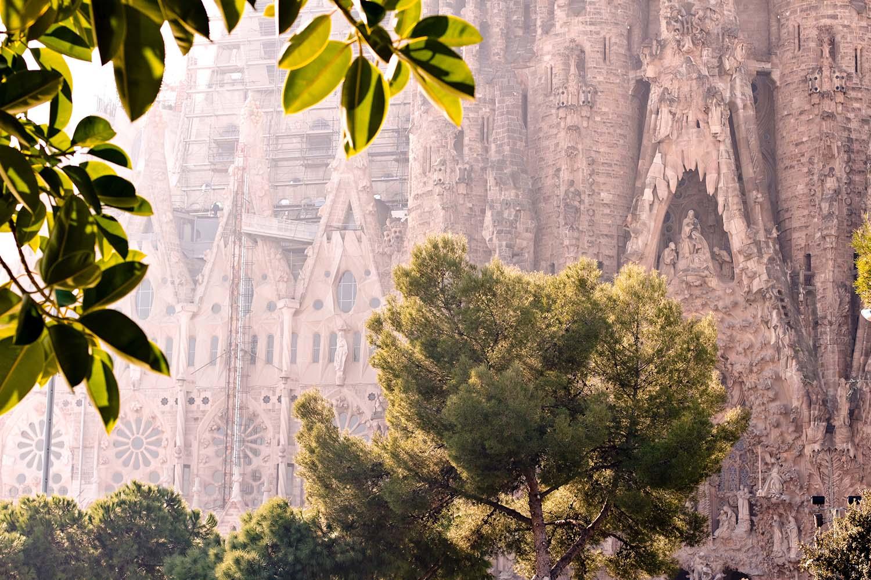 Gaudi's unfinished La Sagrada Familia