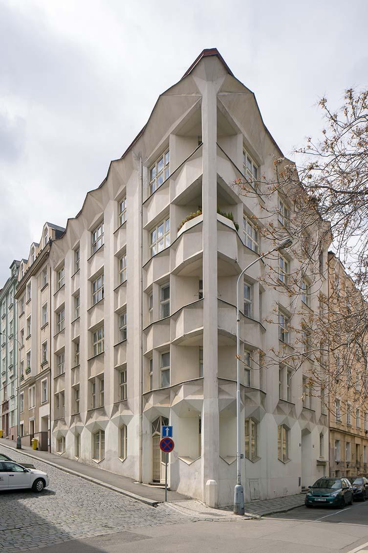 Apartment Building on Neklanova Street / Obytná budova, Josef Chocho, 1912-14