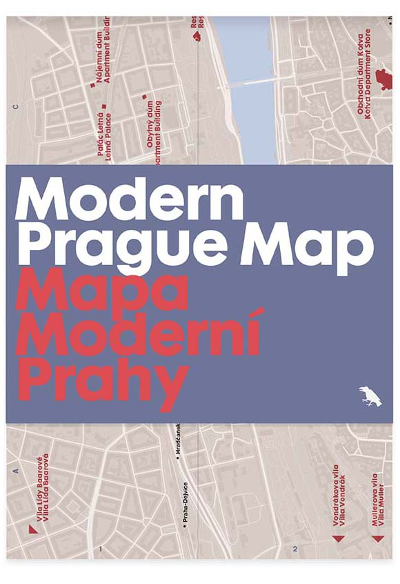 Modern Prague Architecture Map, Published by Blue Crow Media