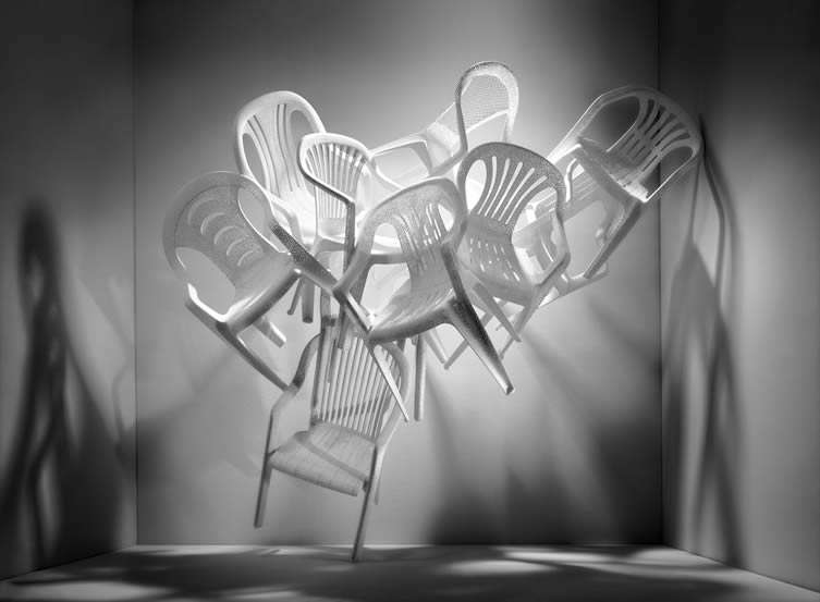 Tina Roeder, White Billion Chairs