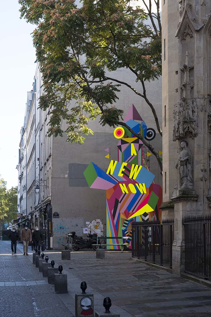 Public Art Installation in Paris with 6M3 Collective