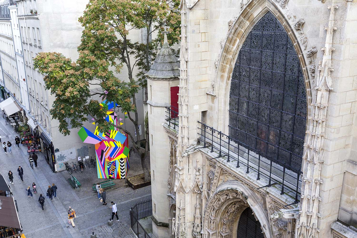 Morag Myerscough, A NEW NOW Public Art Installation in Paris with 6M3 Collective