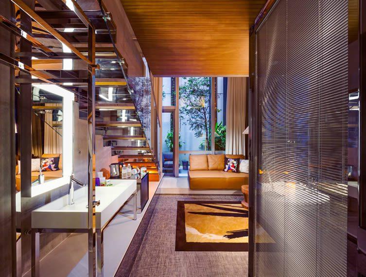 Philippe Starck interiors at Robertson Quay hotel, M Social Singapore