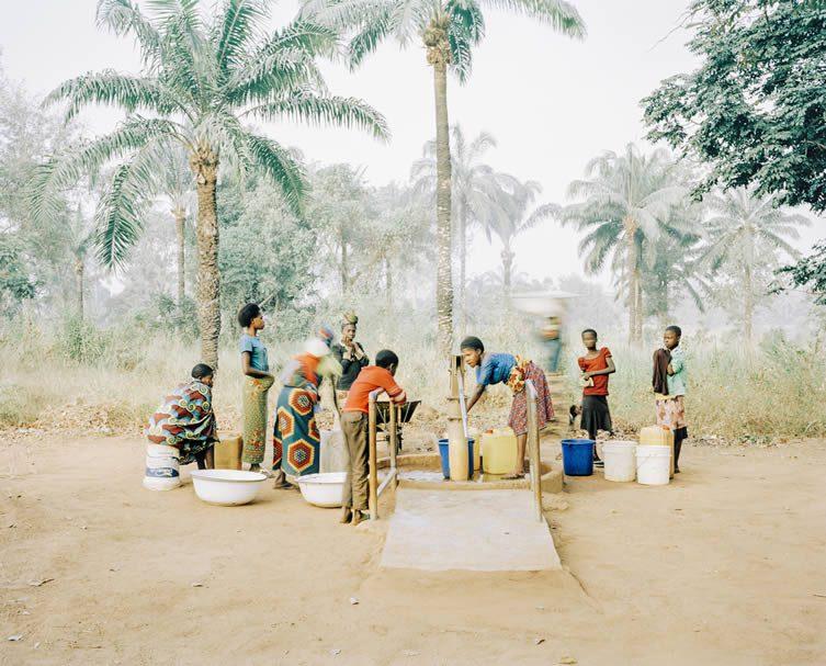 The water pump in Osukputu, Benue, Nigeria