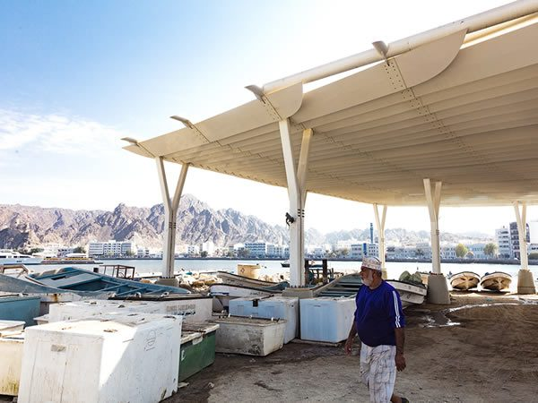 Muttrah Fish Market Muscat, Oman, Designed by Snøhetta