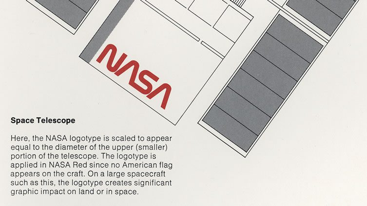 Detail of the logo applied to the Space Telescope
