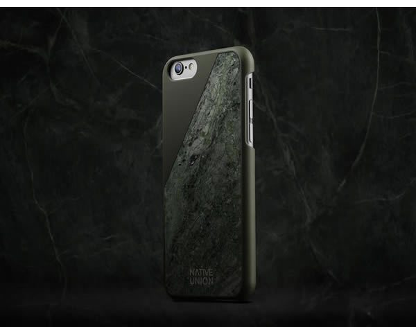 Native Union, CLIC Marble iPhone Cases green marble sourced from Rajasthan, India