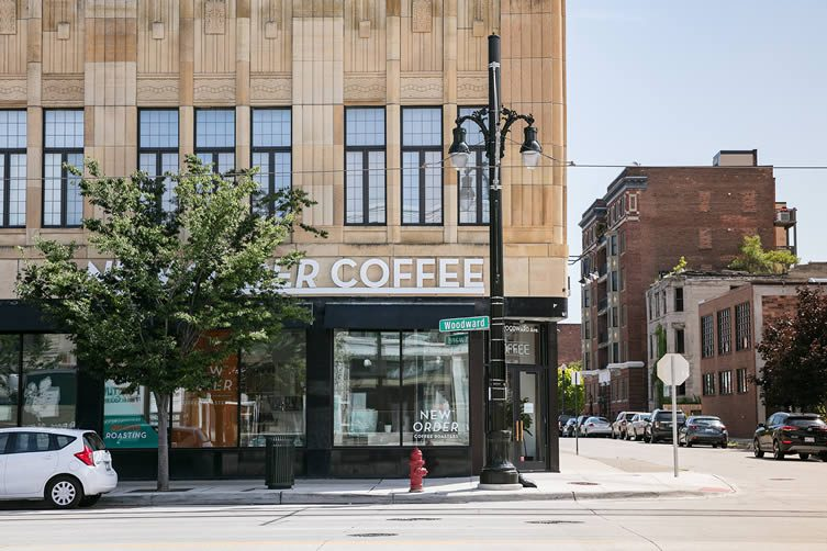 New Order Coffee Roasters, Detroit Woodward Ave