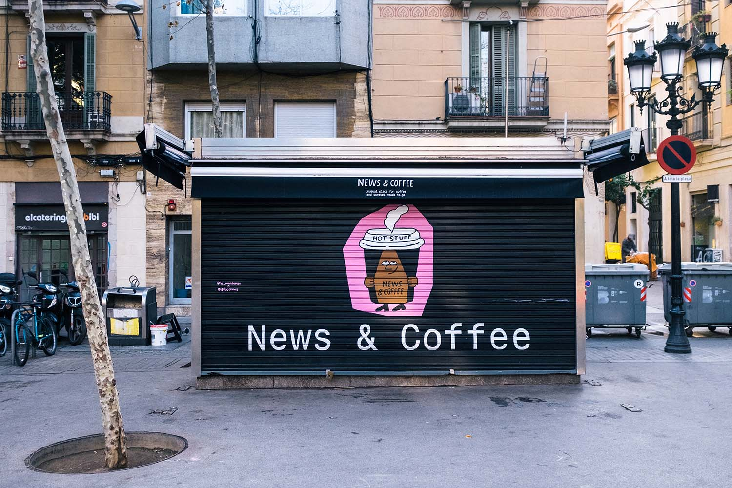 News & Coffee Barcelona, Newsstands Given a New Lease of Life