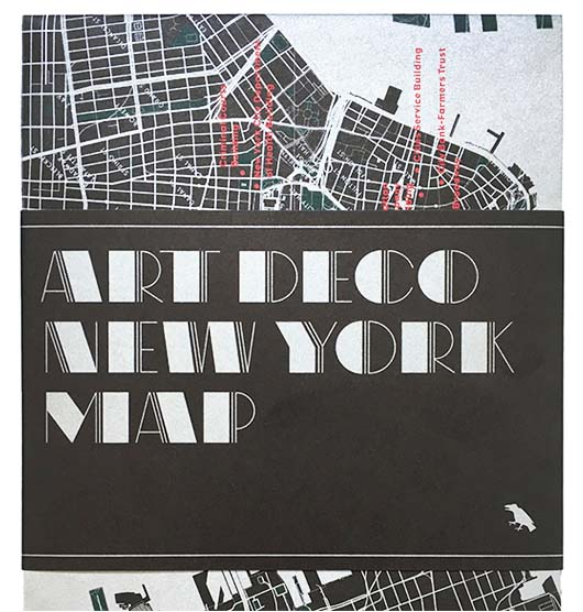 New York Art Deco Architecture Map by Blue Crow Media, Allison C. Meier, and Jason Woods