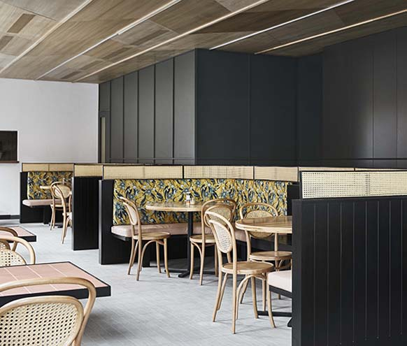 Nine Yards South Melbourne Café Designed by studio Golden