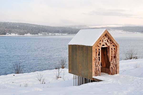 Freya's Cabin by Studio Weave at the Kielder WaterandForest Park