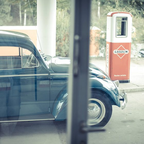 Oldtimer Tankstelle, Hamburg