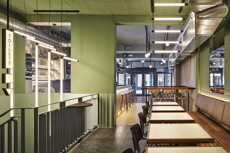 Otto's Burger Cologne Burger Restaurant Designed by Studio Modijefsky