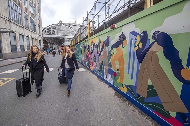 Kelly Anna Mural Commission for Paddington Square