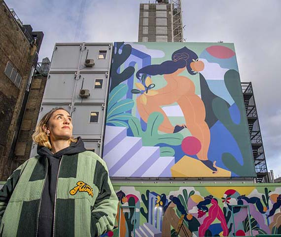 Kelly Anna, Nurture Nature Mural Commission for Paddington Square, London