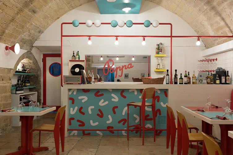 Pappa Bari, Restaurant Designed by SMALL and Diorama, Puglia Italy