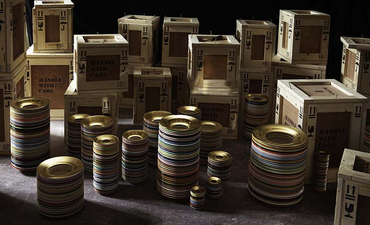 Paul Smith x 1882 Ltd., Stack Collection of Design-driven Ceramics at Milan Design Week