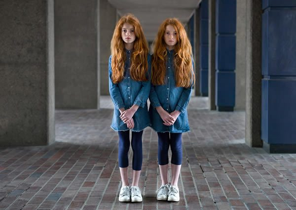 Chloe and Leah, Peter Zelewski, Alike But Not Alike at The Hoxton Hotel Shoreditch