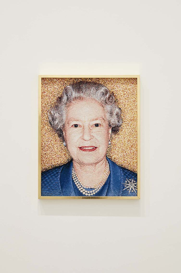 Installation view of Her Majesty Queen Elizabeth II 2018 on display in Polly Borland: Polyverse at NGV Australia