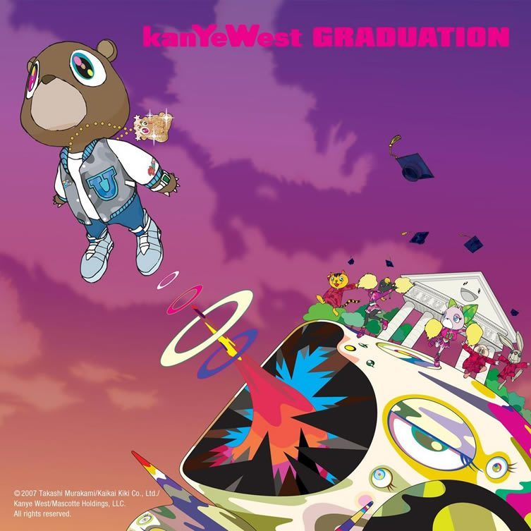 Takashi Murakami for Kanye West, Graduation, 2007