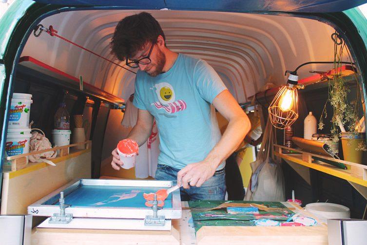 Print Van Paris, Mobile Screen-Printing Studio