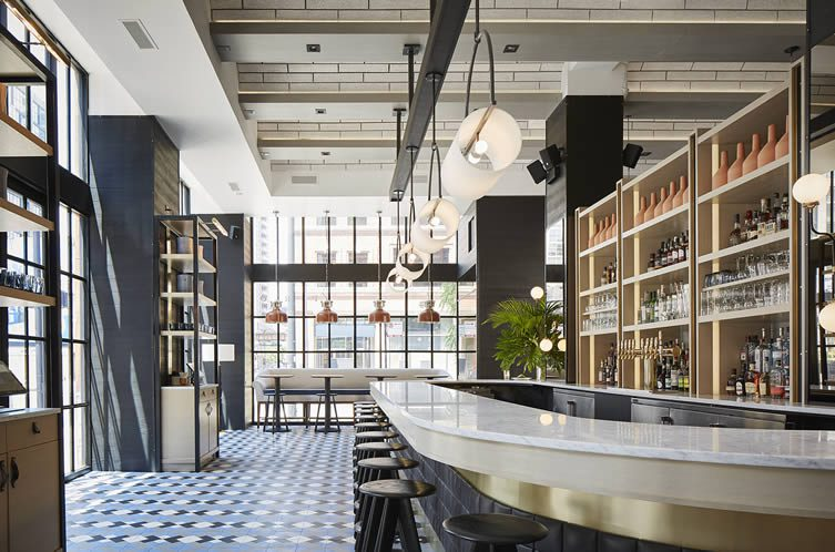 Proxi Chicago West Loop, Restaurant Row, by Andrew Zimmerman and Emmanuel Nony