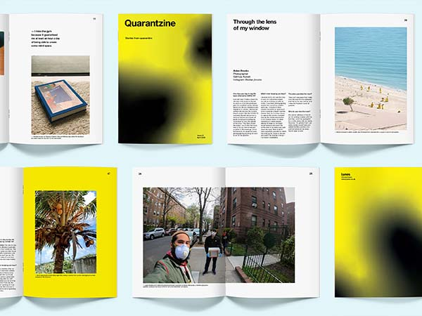 Quarantzine Issue #1, COVID-19 Lockdown Magazine by London Design Studio Lunes