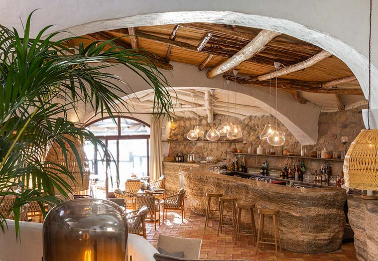 Quattropasi al Pescatore Costa Smeralda, Sardinia, Restaurant at Hotel Cervo, Porto Cervo