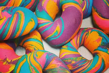 The Bagel Store's Rainbow Bagels