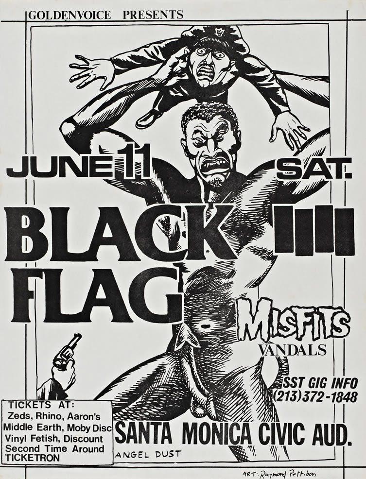 Concert flyer, Artwork by Raymond Pettibon