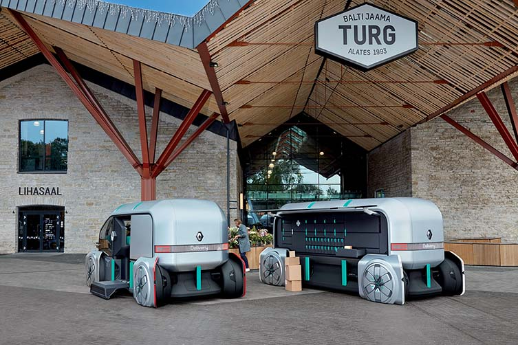 Renault EZ-PRO: Robo-Vehicle for Last Mile Delivery, Concierge, even Coffee Truck