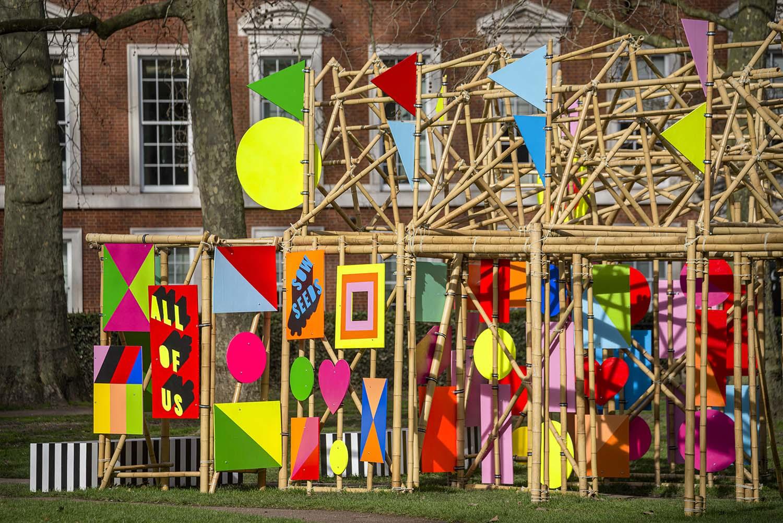 Morag Myerscough, See Through Installation, Grosvenor Square London