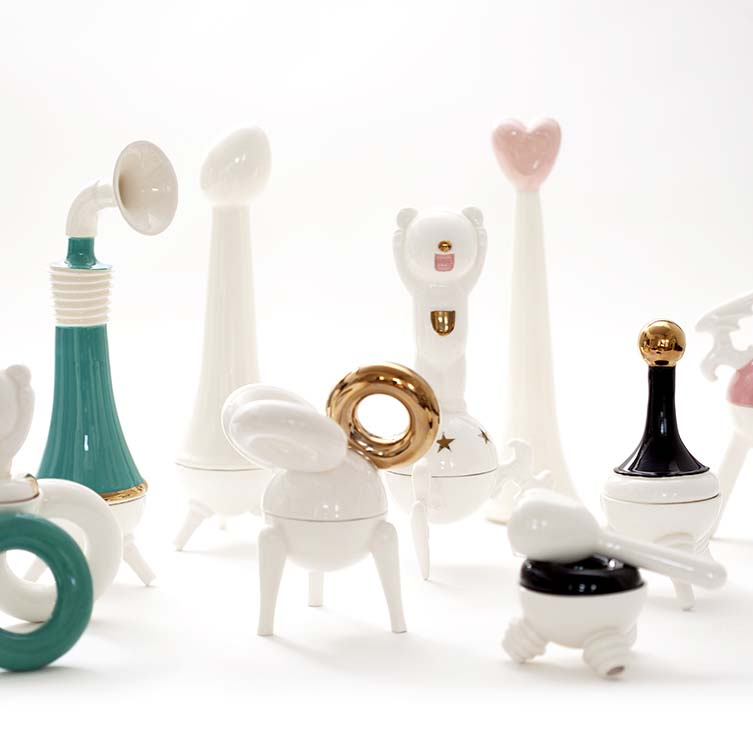 Herzl Design-Art Ceramic Objects by Mey Kahn, Winner in Arts, Crafts and Ready-Made Design Category, 2018—2019