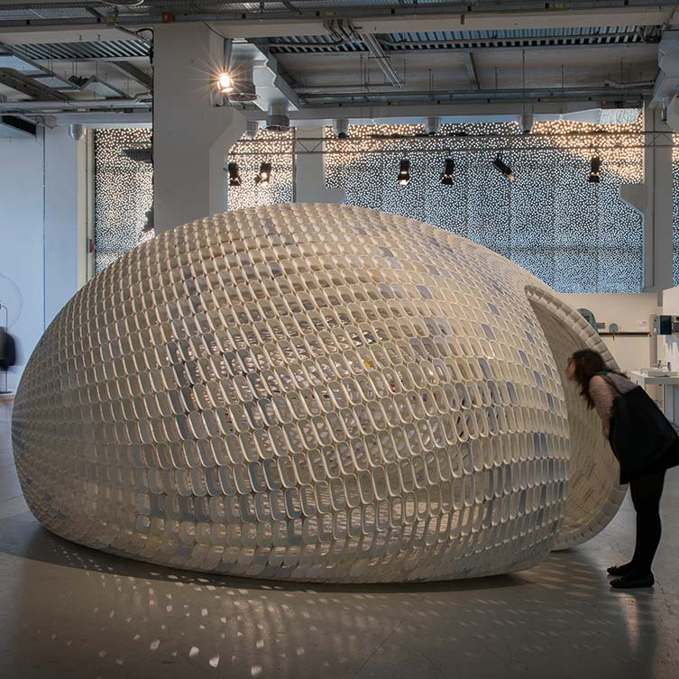 Project Egg Small Pavilion by Michiel Van Der Kley, Winner in 3D Printed Forms and Products Design Category, 2018—2019