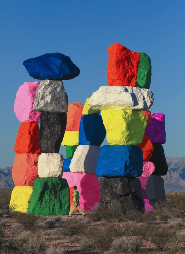 Ugo Rondinone, Seven Magic Mountains, Nevada Desert