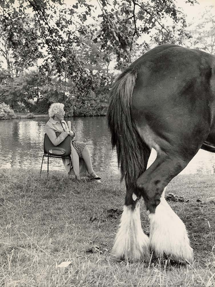 Shirley Baker Untitled (woman and horse), 1968