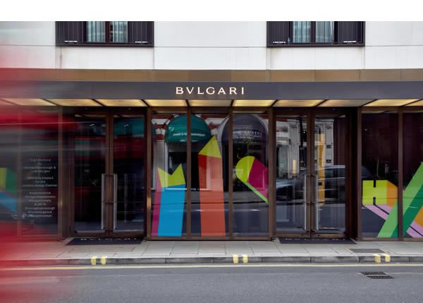 Morag Myerscough and Luke Morgan, Sign Machine at Bulgari Hotel for London Design Festival 2016
