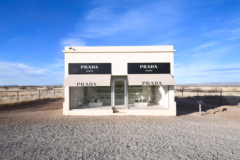 Elmgreen and Dragset's Prada Marfa public art installation, Marfa, Texas
