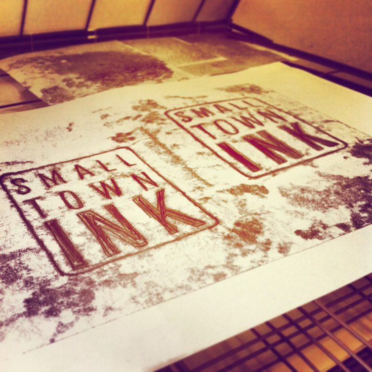 SMALL TOWN INK Traditional Print Day