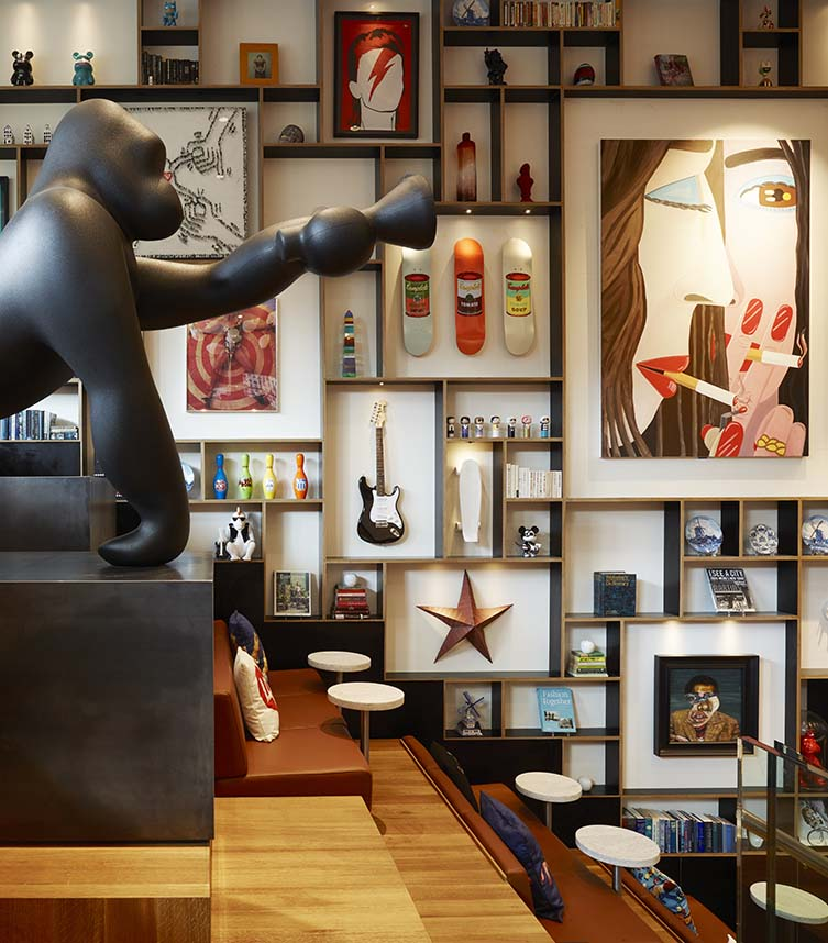 citizenM's Smartify collaboration will offer information of their Bowery hotel's extensive art collection; including Brian Calvin's brilliant Another Smoke