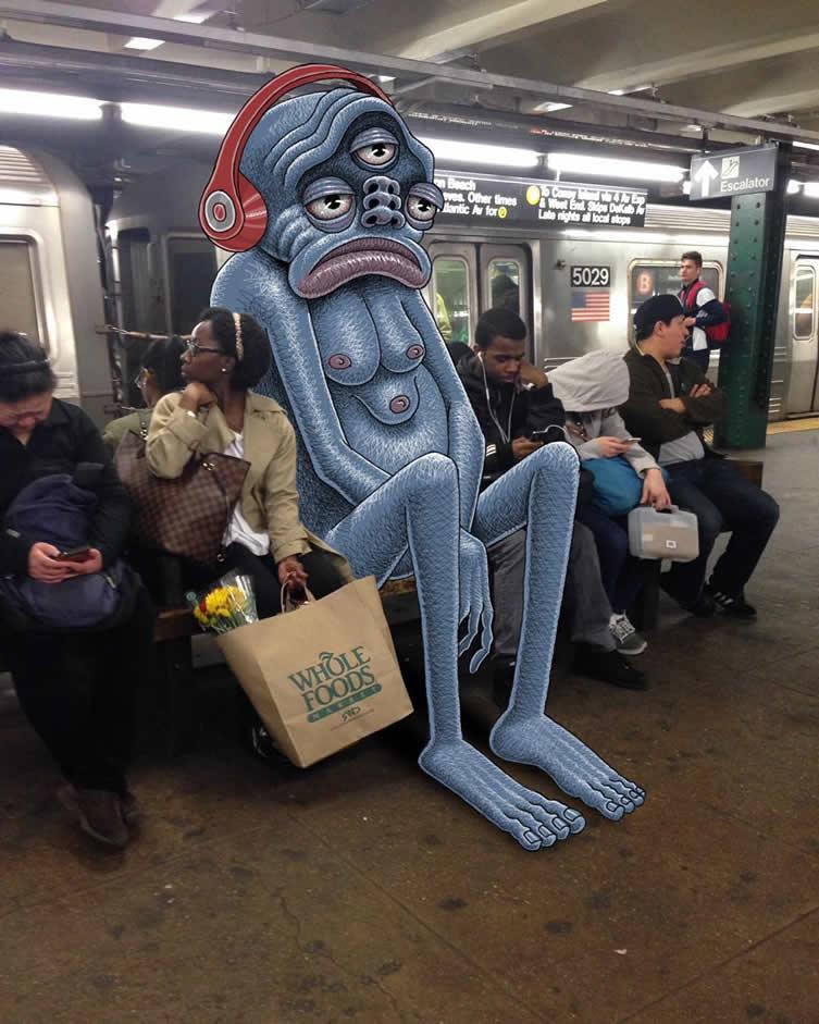 Subway Doodle, Ben Rubin Instagram Illustrations