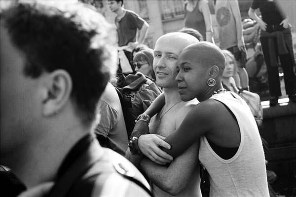 Matthew Smith, Anti Criminal Justice Act demonstration, Trafalgar Square, London